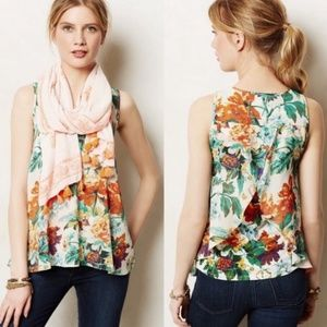 Anthro Meadow Rue Merlon Tank Floral Top Medium